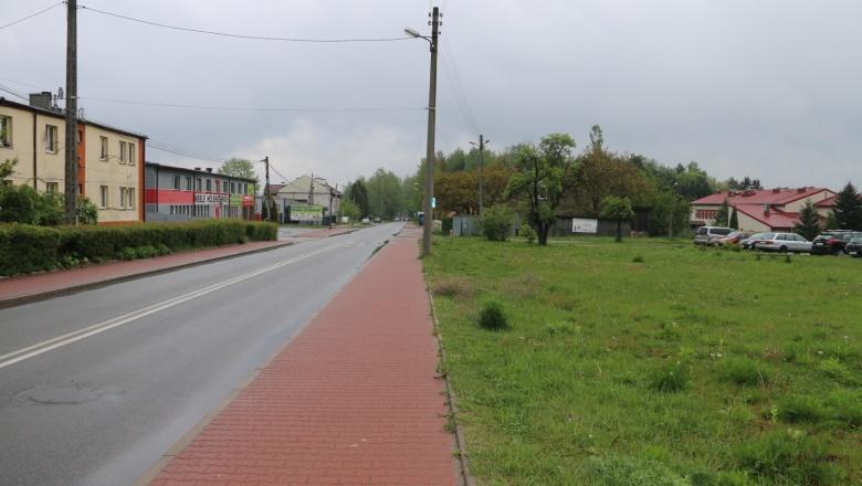 chodnik przy ul. Leśnej